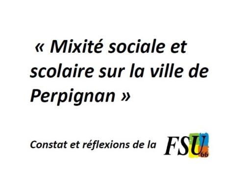 Mixité sociale et mixité scolaire sur le bassin de Perpignan