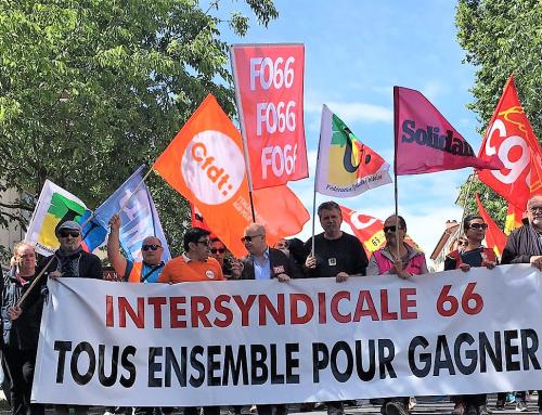 3000 manifestants pour défendre la FONCTION PUBLIQUE