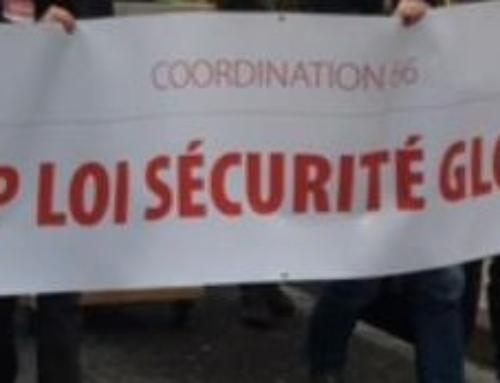 Samedi 16 janvier 2021 : Mobilisons-nous contre la loi « Sécurité globale »