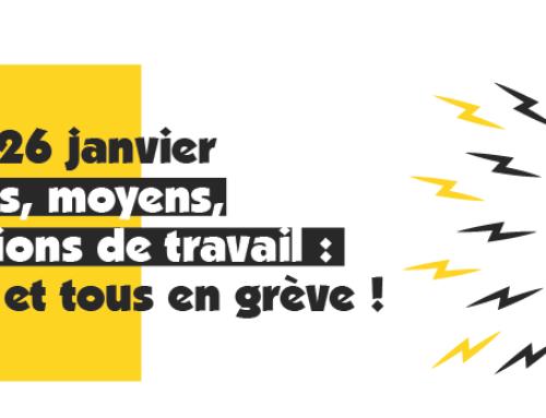Tract intersyndical départemental : Toutes et tous en grève le 26 janvier