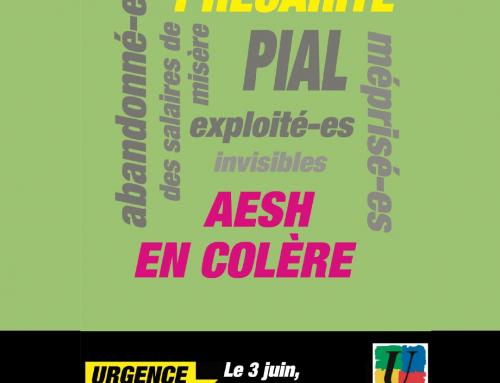 Mobilisation des AESH, le 3 juin : Toutes et tous en grève !
