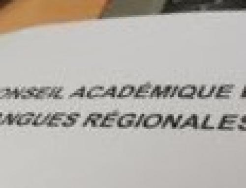 Conseil Académique des Langues Régionales 10 mai 2021 : déclaration préalable et CR FSU + documents présentés