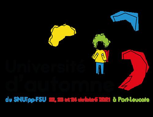 Université d'automne du Snuipp-Fsu